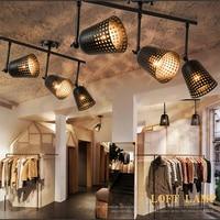 Haomer Creative Loft Industrial Ceiling Lamp Track Lights Bar Clothing Retro Track Lamp Vintage LED COB spot indoor lighting