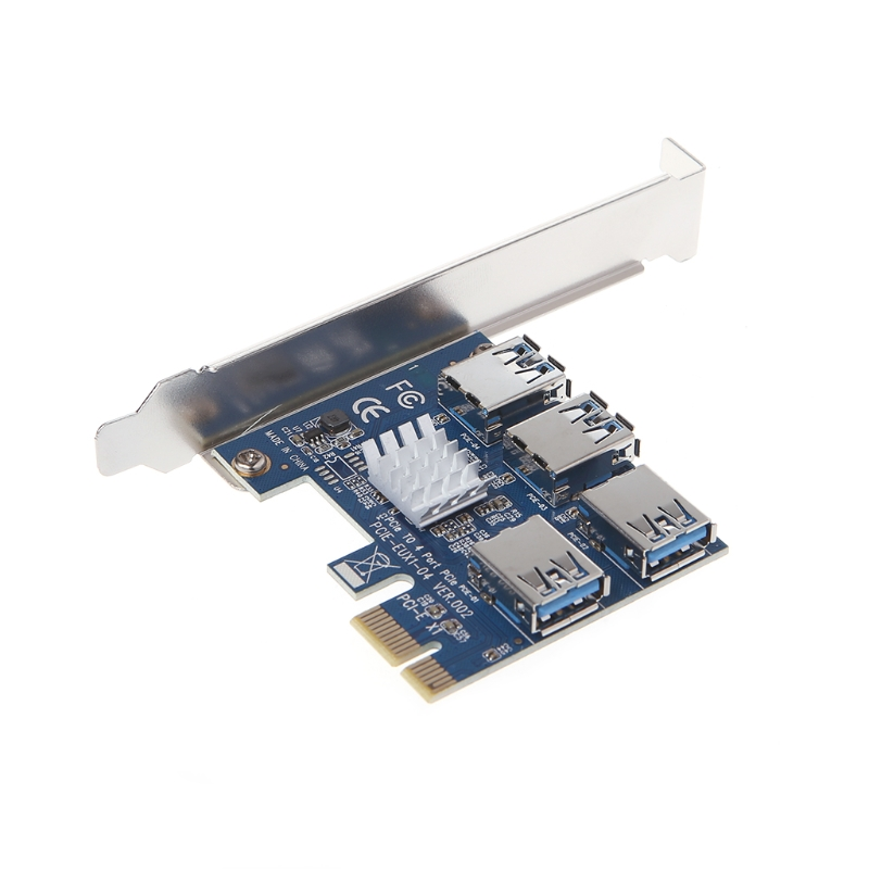 PCI-E to PCI-E Adapter 1 Turn 4 PCI-E Slot One to Four USB 3.0 Mining Special Riser Card - L059 New hot pci e to