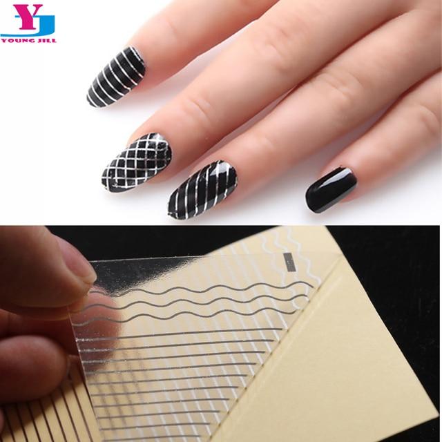 10pcs Lot Gold Silver Nail Art Stickers Striping Line Decoration Design Nails Foils