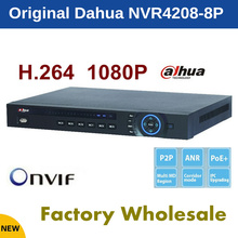 Free shipping 2016 NEW CCTV Dahua NVR 8CH 8 PoE Network Video Recorder NVR4208-8P 4ch alarm in and 2ch relay out Support Onvif