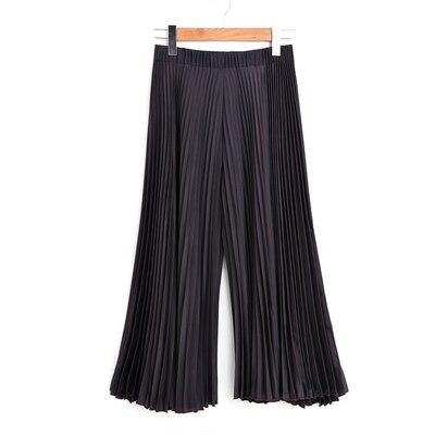 Oscuro longitud Calf Moda Fold Blue dark Libre Puntos Pure Nueve Pantalones gris Anchos Color Stock Envío En Negro qzTFvRWx