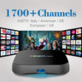 HD IPTV Libre Cuenta Europa Árabe con 2/8 GB Android 6.0 Inteligente TV Box Amlogic S912 4 K 2.4 GHz WiFi Media Player Set Top caja