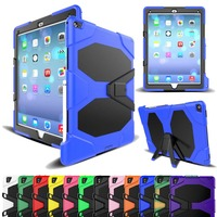 For iPad Pro 12.9 Case 2017 2015 Cover Silicone Shockproof Heavy Duty Kickstand Hand brace 3 Layer Hard Full Body Protector Tablets & e-Books Case     -