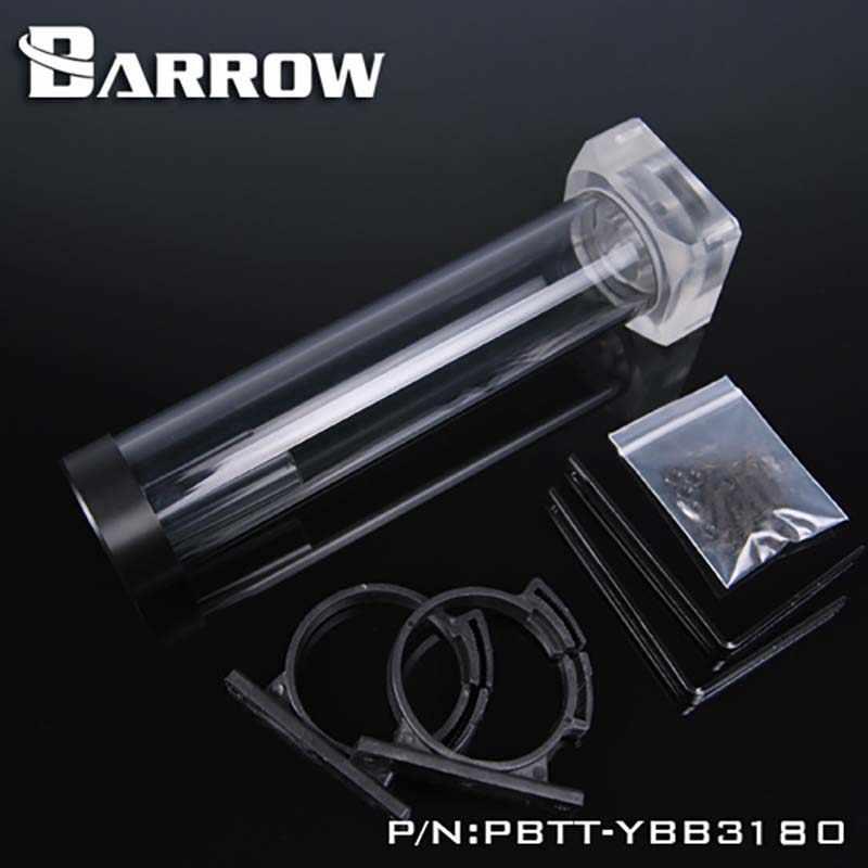 Barrow Air Cooler Akrilik/PMMA Hitam Hitam Tabung 4 Panjang DDC Pompa Kotak Terintegrasi Set Heatsink Gadget