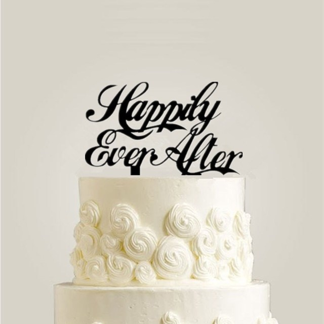 Acrylic Wedding Cake Topper Happily Ever After Topper For Wedding