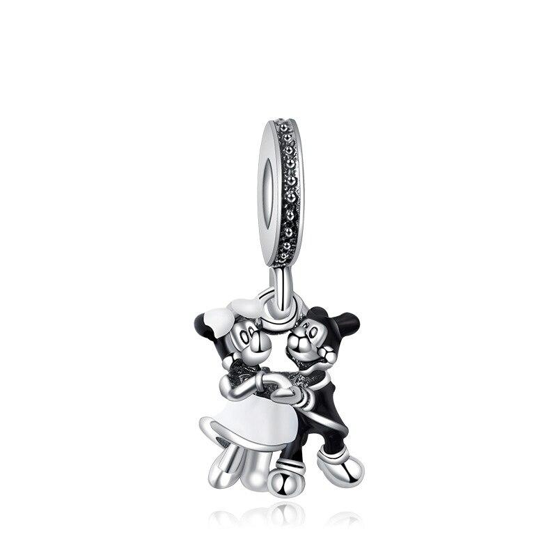 Beads 5pcs Bijoux Jewelry Accessories Black Enamel Animal Cut Cat Monkey Bead For Jewelry Making Diy Pandora Charm Women Man Bracelet Beads & Jewelry Making