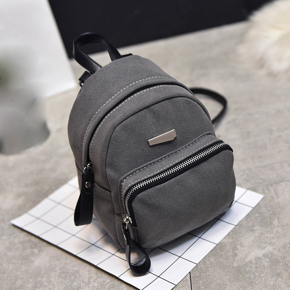 Ulrica High Quality leather backpack Lady Fashion Style Bag Vintage Mini Backpack mochila feminina 17cm 21cm