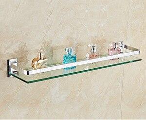 Estante cuadrado de vidrio para baño de 8mm de grosor, 28/38/48/58cm