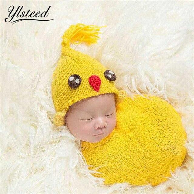 Neugeborenen Häkeln Küken Wraps Hut Set Kawaii Tier Hut Baby ...
