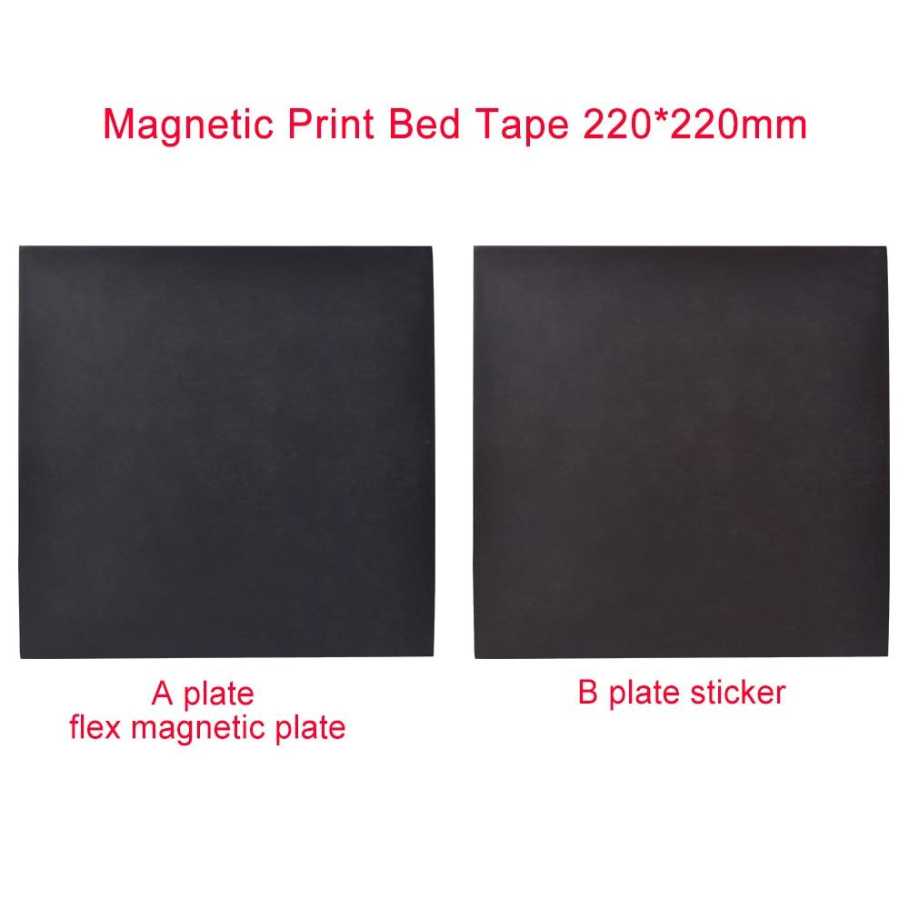 1 Set 3D Printer Parts 220x220mm Magnetic Print Bed Tape Print Sticker Build Plate Tape Flex Plate suit Pla Abs filament 220x220mm flex magnetic print bed tape sticker build plate tape for prusa i3 wanhao i3 anet a8 a6 3d printer