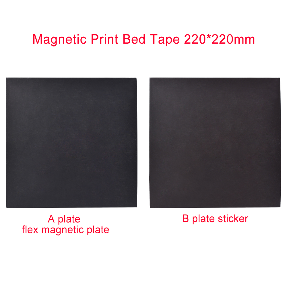 1 Set <font><b>3D</b></font> <font><b>Printer</b></font> Parts Magnetic Print Bed Tape 220x220mm Print Sticker Build <font><b>Plate</b></font> Tape <font><b>Flex</b></font> Heated Bed <font><b>Plate</b></font> suit Pla Abs image