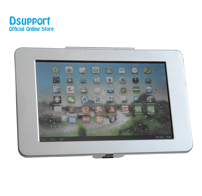Customer Made Aluminum Alloy Tablet PC wall mounted Anti Theft design Display Stand With Security Lock