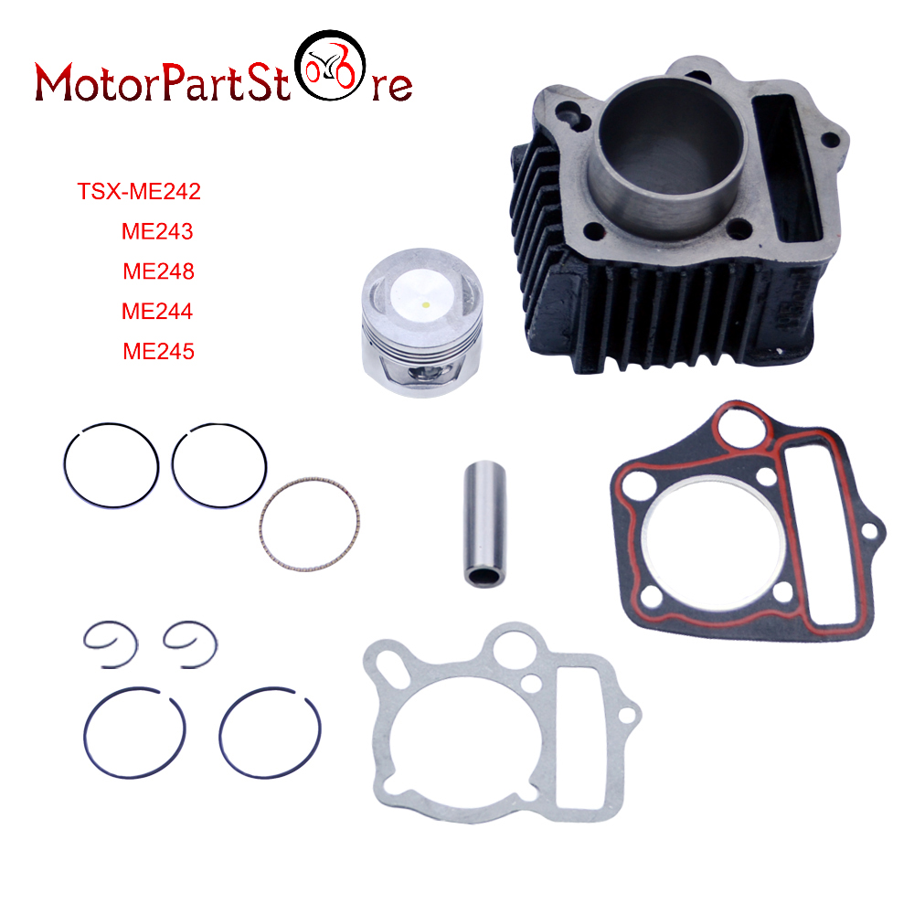 Cylinder Piston Ring Gasket Kit for Honda CRF70 CT70 TRX70 XR70 ATC70 S65 70cc Dirt Pit Bike ATV Quad Motorcycle Engine Part * dwcx motorcycle adjustable chain tensioner bolt on roller motocross for harley honda dirt street bike atv banshee suzuki chopper