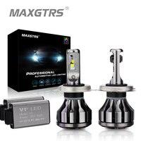 MAXGTRS Car LED Đèn Pha LED Canbus H1 H3 H7 H4 LED H8/H11 HB3/9005 HB4/9006 9012 880 881 CSP Chip 60 Wát Bóng Đèn Tự Động Sương Mù Ánh Sáng