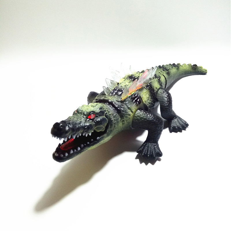 42CM Simulation Electric Crocodile For Toy With Sound And light Big Plastic Animal Model Kids Electronic Pets Boy Birthday Gifts все цены