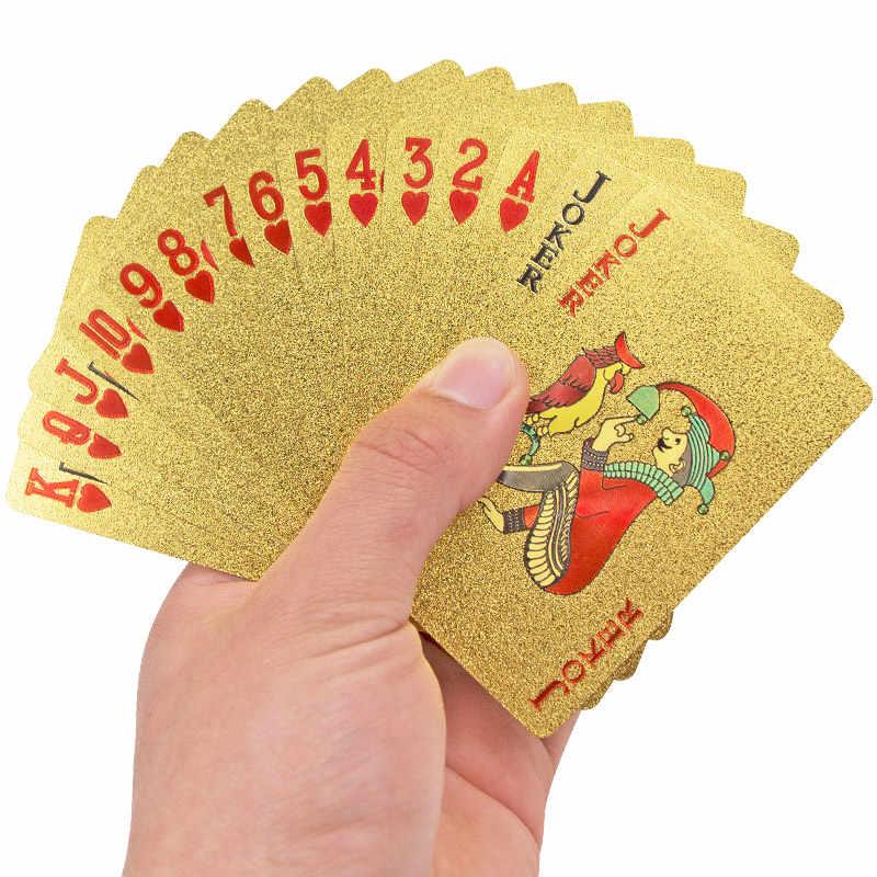 الذهب احباط بطاقات اللعب للماء تكساس هولدم بوكر مضحك عالية الجودة الترفيه القمار Pokerstars هدية ل حزب الجدول لعبة