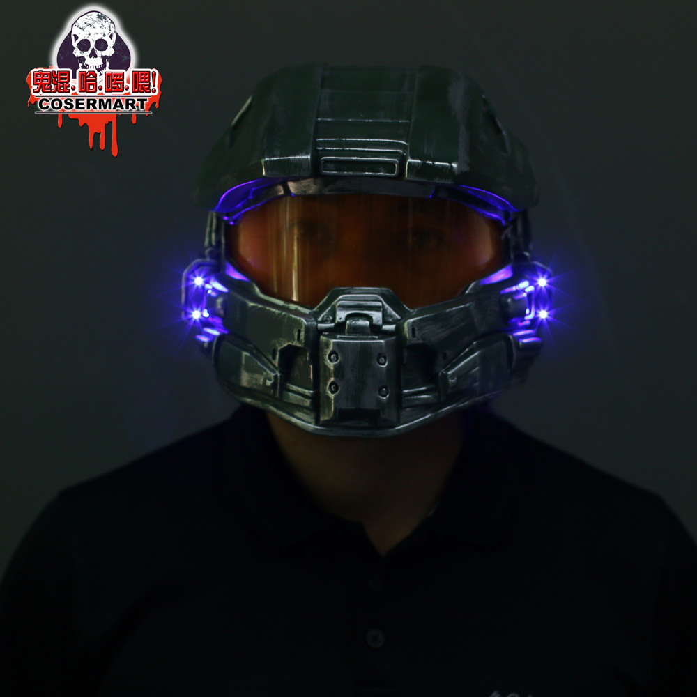 Halo 4 Helmet Prop Replica Cosplay Costume Full Head Mask PVC Equipment Master Chief Game Accessories