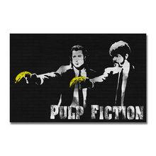 Affiche de film de Fiction, en soie ou sur toile, 13x20 pouces, pour décoration de salle, 007