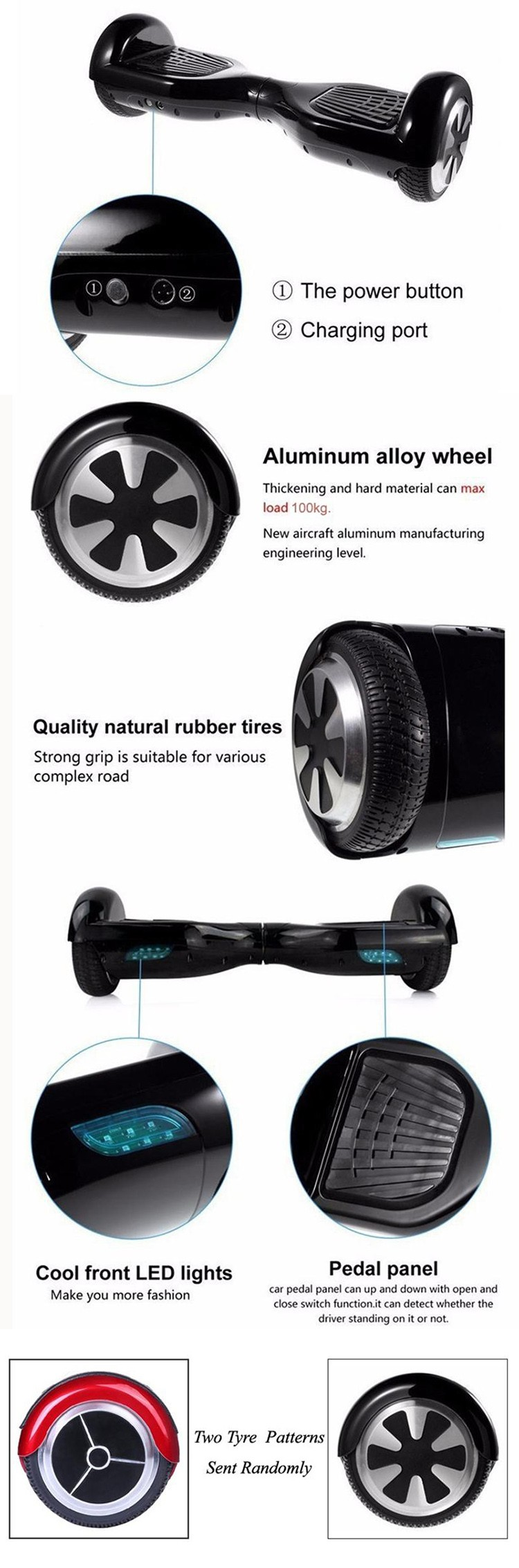 6.5inch hoverboard electric scooter (17)
