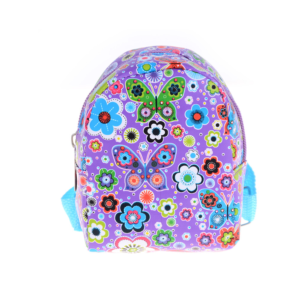 Cute Backpacks School Bag For 18 Inch Doll Girls Doll 43CM   Baby Dolls Bag Accessories Best Christmas Gift To Girl