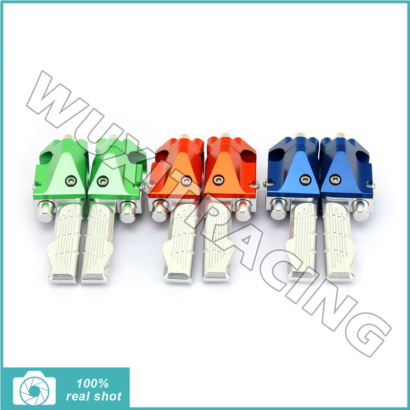 New CNC Billet MX Motocross Offroad Motorcycle Foot Pegs Footpegs Footrests Foot Rests Pedals for YAMAHA BWS 125 BWS125 Rear meziere wp101b sbc billet elec w p