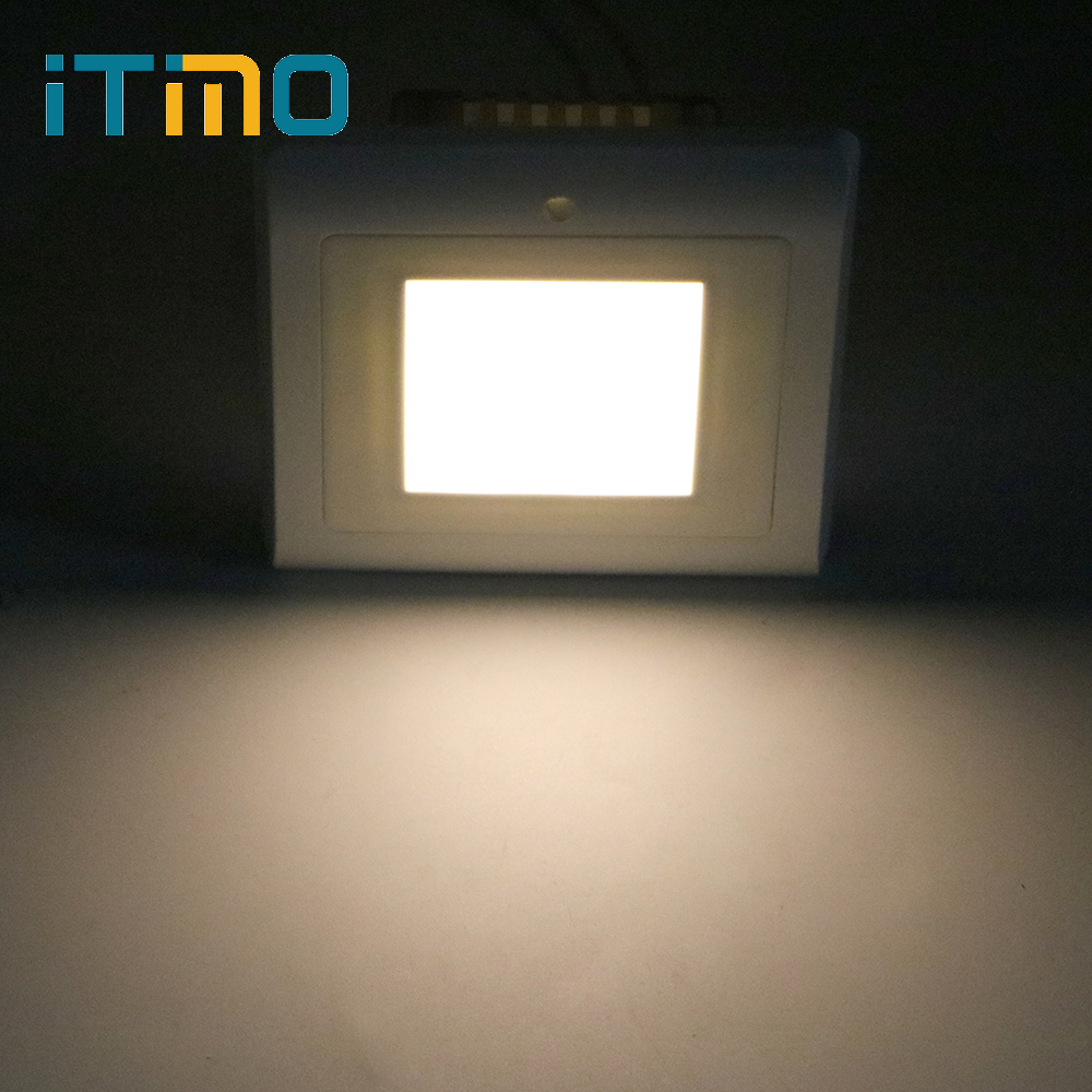 ITimo Stair Footlight Light Sensor Light For Hallway Bedroom Step Lamp Super Bright Indoor Lighting LED Night Light itimo wireless led bulb with remote control dimmable 220v e27 home indoor lighting night light us plug bedroom light lamp