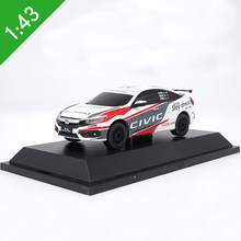 Original Box 1:43 Scale Honda Civic Alloy Racing Car Model Metal Castings Model Toy Vehicle For Kids Toys Gifts Free Shipping(China)