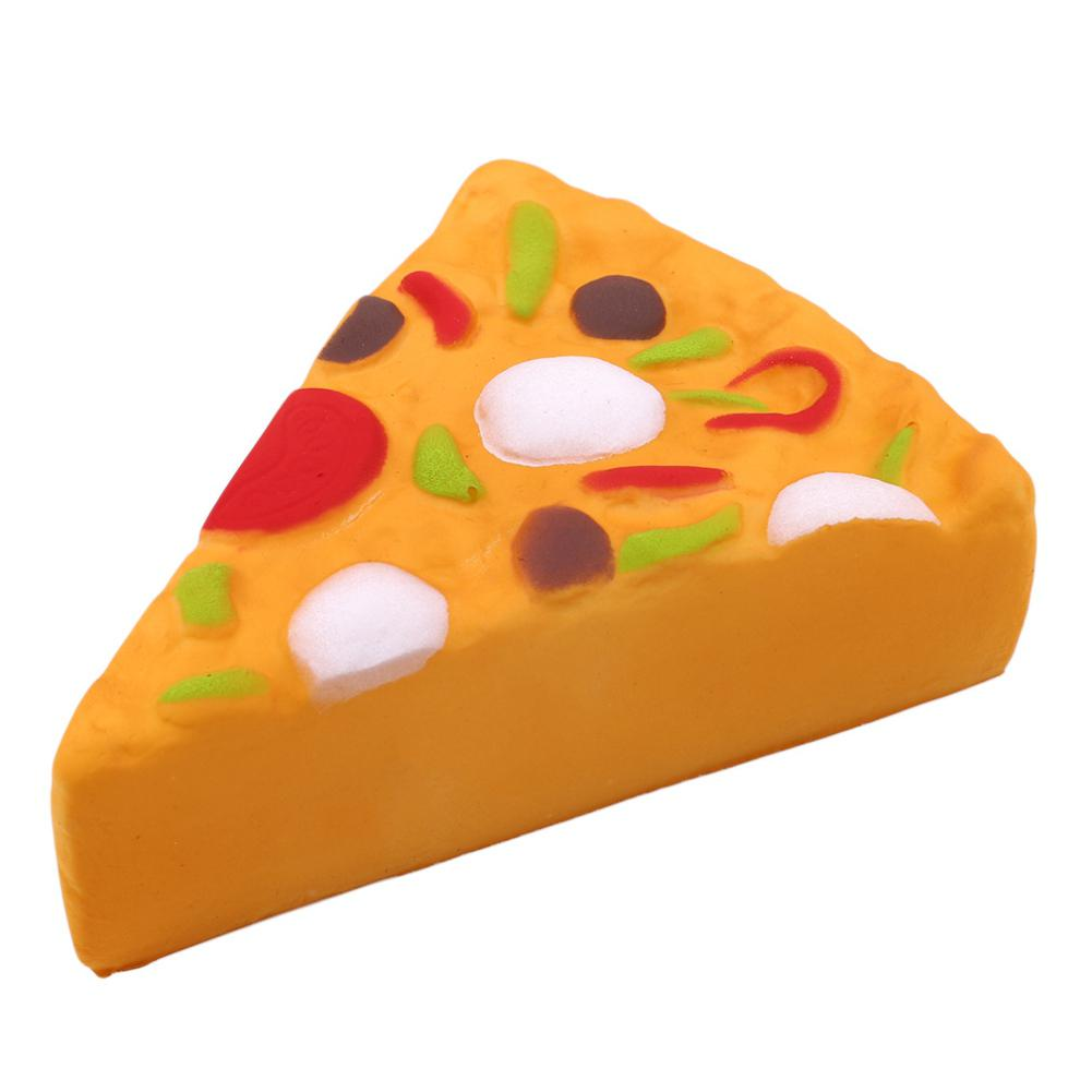 10CM Soft Imitation Squishy Slice Pizza With Fragrance Vent Toy