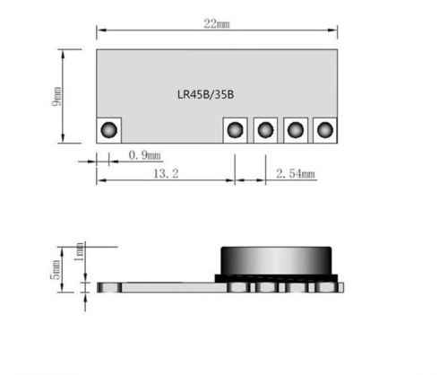 1 Pcs 4.5-5.5 V LR45B 315/433 MHz Meminta Superheterodyne Nirkabel Penerima Modul 433 MHz Modul