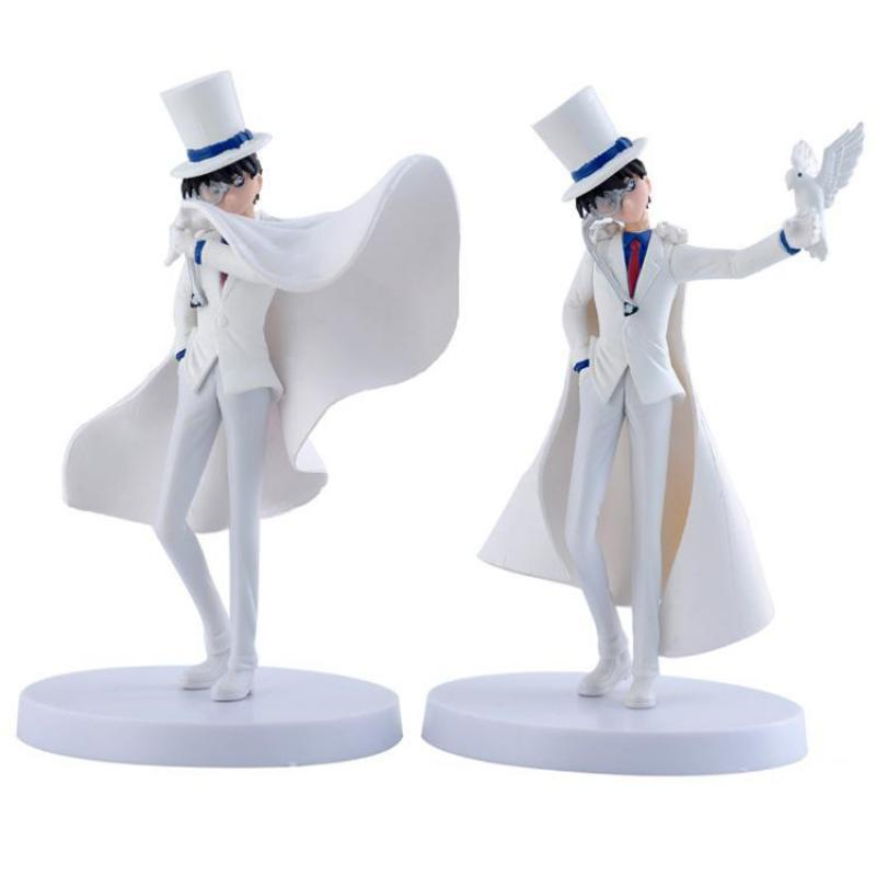 2pcs/lot Conan Kaitou Kid PVC Action Figure Toys Anime Detective Conan Figurines Model Dolls For Kids Gifts Free Shipping