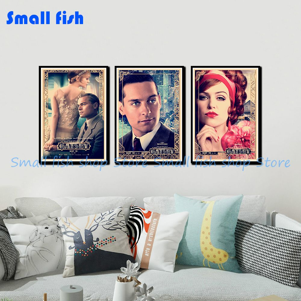 Us 1 97 18 Off The Great Gatsby Vintage Retro Decorative Frame Poster Wall Posters Home Decor Gift 42 30 Cm In Wall Stickers From Home Garden On