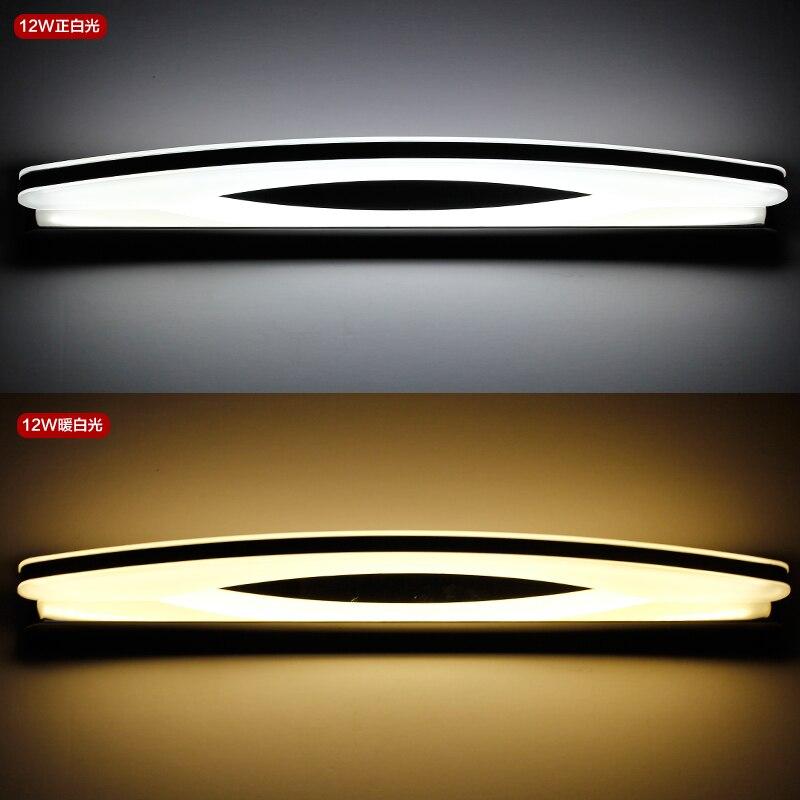 90cm 100cm 120cm Longer LED Mirror Light Modern Cosmetic Acrylic Wall lamp Bathroom Lighting Waterproof AC85-260V