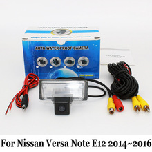 Car Rear View Camera For Nissan Note / Versa Note (E12) 2012~2016 / RCA AUX Wire Or Wireless Camera / HD CCD Night Vision Camera