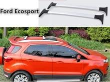 free SUV automotive 2 pcs/set Roof Rack Baggage rack Roof Racks Cross bar Equipment For 2013-2014 Ford Ecosport Silver Black