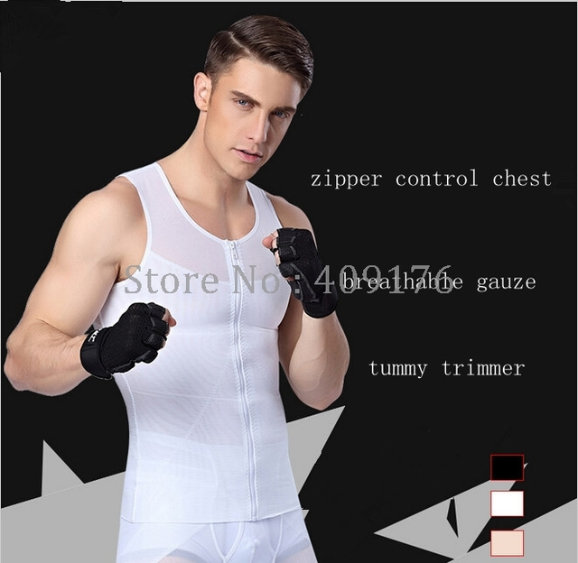 Men Shaper PRAYGER Gynecomastia Corset For Man Slimming Waist Trimmer Zipper Body Shapers Control Belly Tank Tops Abdominal Vest 2