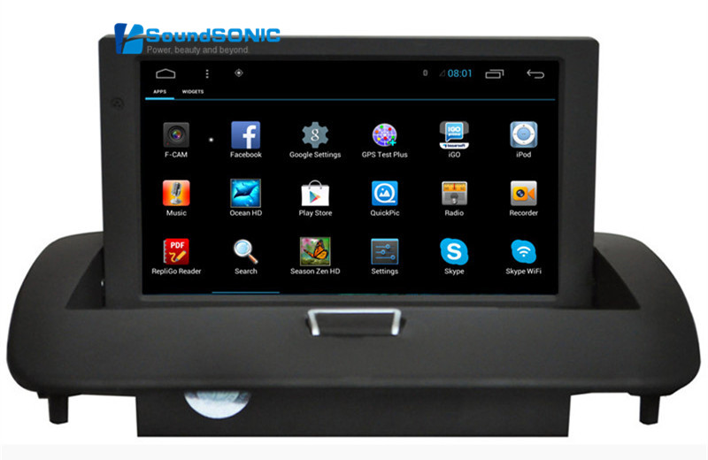 8Inch Full Touch Screen Android 4.4 Car DVD GPS Special for <font><b>Volvo</b></font> <font><b>S40</b></font> C40 C70 V50 S60 2008-2012 with Wifi 1024*600 HD Screen image