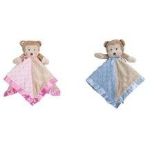 Lovely Cartoon Bear Cloth Blanket Bedtime Toys Creative Kids Sleep Accompany Doll For Early Education  Christmas Gift ngr sleep bear