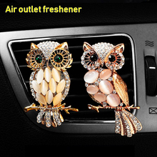 Car Air Outlet Freshener Diamond Owl Crystal Perfume Clip Conditioning Aromatherapy Accessories Decoration Universal