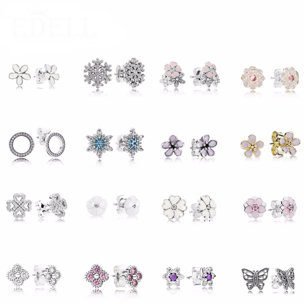 KAKANY Earrings Gems Sparkling 925-Sterling-Silver Genuine Original New Fashion Charm