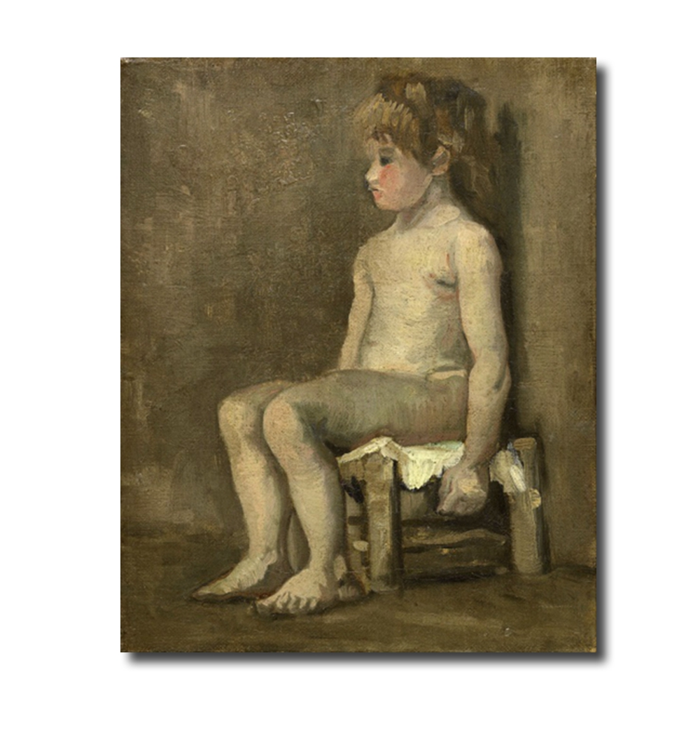 Nude girl seated by Vincent Von Gogh Poster Print Canvas Painting Calligraphy Home Decor Wall Art Pictures for Living Room in Painting Calligraphy from Home Garden