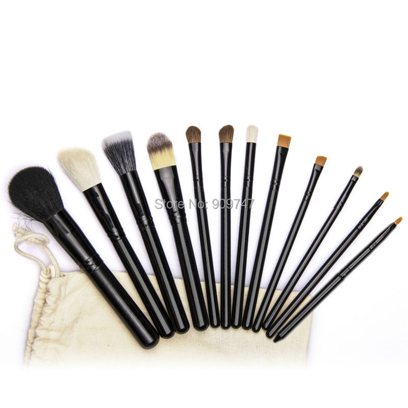 12pcs/Pack Beautiful Professional Cosmetic Makeup Brushes Set Kits for Women Girl Lady With cloth case