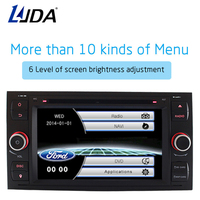 LJDA Two Din 7 Inch Car Radio For Ford Mondeo Focus Transit C MAX S MAX