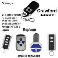 1pcs Crawford EA433 2KM Micro compatible remote control 433mhz rolling code,Crawford gate control,barrier remote,garage remote