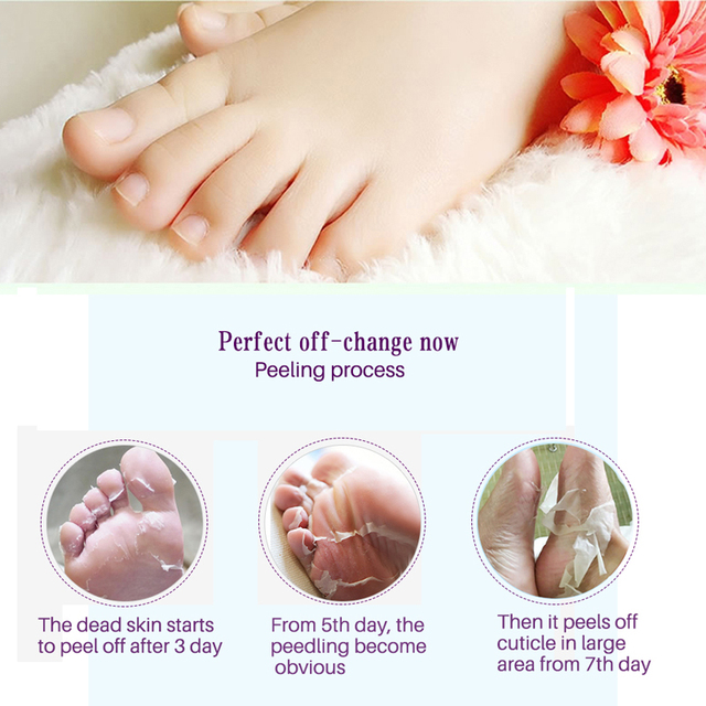6pc=3pair Exfoliating Foot Mask Pedicure Socks Exfoliation for Feet Mask Remove Dead Skin Heels Foot Peeling Mask for Legs efero 4