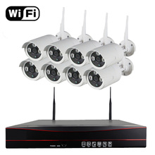 8CH CCTV System Wireless 720P NVR 8PCS 1.0MP IR Outdoor P2P Wifi IP CCTV Security Camera System Surveillance Kit 1TB 2TB HDD