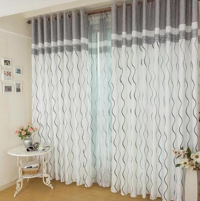 Gestreiften moderne tüll für windows schatten gardinen stoff für ...