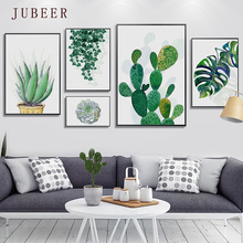 Scandinavian Style Plant Canvas Painting Cactus Leaves Wall Pictures for Living Room Posters On the Modern Home Decorations