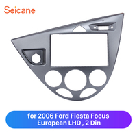 Seicane Double Din Car Fascia Frame Trim Plate for 2006 Ford Fiesta Focus European LHD Mount Kit in Dash