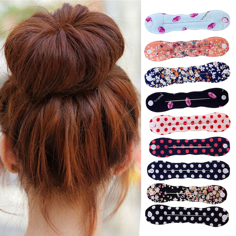 Hot Sale Polka Dot Fashion Lovely Colorful Lip Printed Magic Sponge Clip Hair Styling Curler Tools For Women Girls