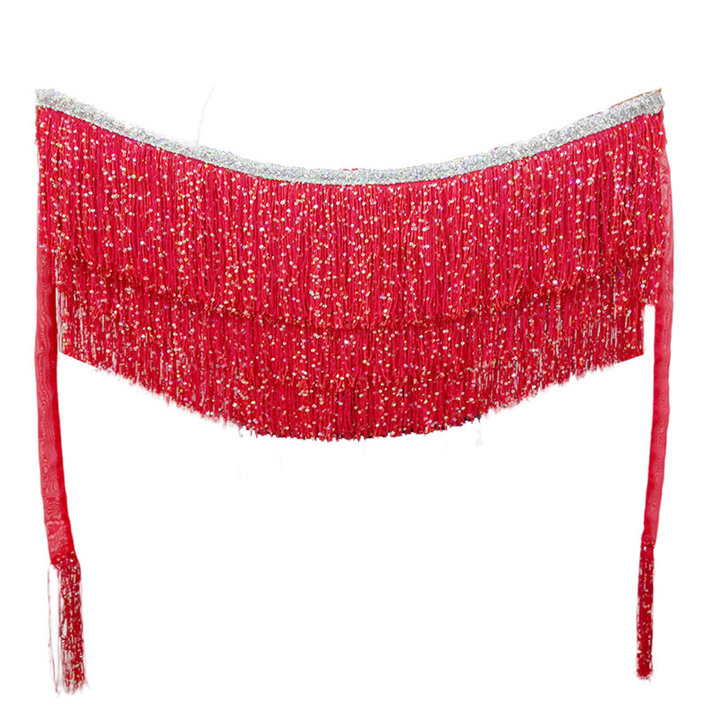 Belly Dance Belt Dancing Hip Scarf Waist Chain Gypsy Costume Belt Accessories Long Tassel Triangle Hip